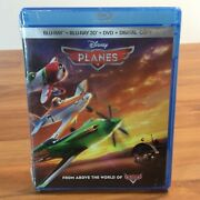 New Disney Planes Blu Ray And Blu Ray 3d And Dvd And Digital Copy 2013 3-disc Set