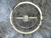 1954 Ford Master Guide Power Steering Wheel 18 With Horn Ring Fairlane 3624