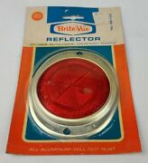 Vintage Brite-vue Yankee Stop Light Taillight Red Lens Reflector Nos Classic Car