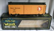 ✅weaver 3-rail Great Northern 40' Ps-1 Box Car O Scale Freight Train Gn Goat