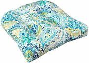 Pillow Perfect Outdoor/indoor Gilford Baltic Tufted Seat Cushions Round Back ...