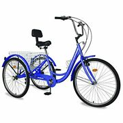 Adult Tricycles 3 Wheel Bikes For Adults 24 Inch /26 Inch 7 Speed Adult Trikes