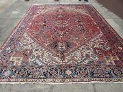 Antique Traditional Hand Made Vintage Oriental Wool Red Pink Carpet 366x275cm