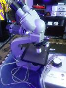 Olympus Model N Microscope With Olympus Lamp Housing And Controler