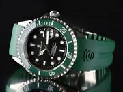 Steinhart Ocean 1 Green Ceramic 42mm Swiss Automatic Menand039s Diver Watch Silicone