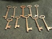 Vintage Antique Collectable Skeleton Keys Lot Of 10 Fast Free Shipping