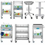 Medical Dental Lab Trolley For Laboratory Clinic Hospital With 2-3 Shelves Tools