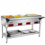 110 V Commercial Electric Food Warmer Andndash Kitma 4 Pot Stainless Steel Steam Table