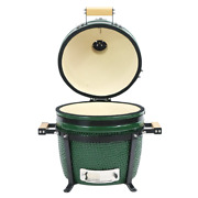 Ynni Kamado 15.7 Inch Grills And Bundles Bbq, Ceramic, Egg, Twin Thermometer Lid