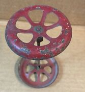 Antique Tin Wheels 2 1/4and039and039 Diameter 3 3/4 And039and039 Apart For Tin Or Pressed Steel Toys