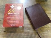 New Life Application Study Bible Niv Zondervan Notes Sketches Maps Burgundy Red