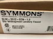 Symmons Slw-3512-stn-1.0 Dia Widespread Bathroom Faucet W/pop Up Drain Assembly