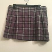 Nwt 138 Juicy Couture Gray Plaid Skirt W/andhellip