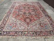 Antique Traditional Hand Made Vintage Oriental Wool Pink Red Carpet 347x260cm