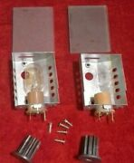 2 Ronco Showtime Rotisserie Model 4000 Light Bulb Assembly And Glass Steel Gear
