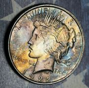 1922-d Peace Silver Dollar Toned Collector Coin. Free Shipping