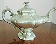 Antique Pewter Teapot Rococo Style By James Dixon And Sons Of Sheffield England