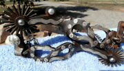 Double Mounted Sterling Silver Iron Antiqued Snake Horse Cowboy Spurs/ T. Hunter