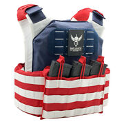 Shellback Tactical Stars And Stripes Plate Carrier Combat Vest W/free Heavy Hanger