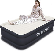 Englander Air Mattress Twin W/ Built In Pump - Inflatable Bed For Camping -