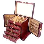 Wooden Jewelry Box For Women Organizer Box With Lock For Jewelries, Watches, Box