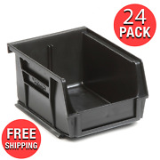 24-pack Plastic Stacking Hanging Bin Small Parts Storage Organizer Stackable