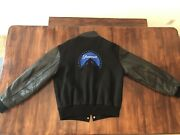 Vintage Paramount Pictures Wool Leather Varsity Jacket Sz L Made Usa