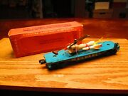 Lionel 6820 Flat Car With Missle Trransport Helicopter 1958
