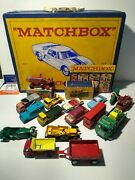 Lot Of 16 Vintage 1960's Lesney Matchbox Diecast Cars With Collectible Case