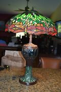 Style Turtleback Table Lamp Reproduction Stunning 32 High