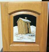 Dave Iman Bodie Outhouse Original Oil On Wood Landscape Painting