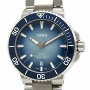 Oris Aquis Lake Baikal Limited 733 7730 4175 Automatic Blue Dial Stainless Mens