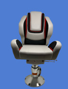Garelick Boat Marine Seat Helm Captians Chair With Pedistal And Slide