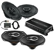 Sx165neo Sx690neo Front And Saddlebag Speakers + Hmp4d Amp + Flash Tool For Harley