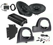 Sx165neo Speakers + Lower Fairing Pods W/ Hmp4d Amp + Flash Tool For 14+ Harley