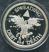 2013 2 Oz .999 Pure Silver Shield Proof Warbird Round Coin Debt And Death Eagle