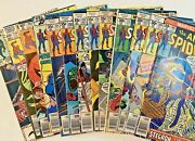 Amazing Spider-man Mix From 165 - 259 Marvel Comic Book Bronze 13 Book Lot.
