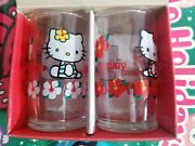 Vintage Hello Kitty Drinking Glasses Kitty And Mimmy 1999 New