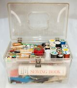 Vintage Wilson Wil-hold Plastic Sewing Box W/tray-thread-shears-book-zippers-etc