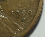 = 1909-s/s Vf/xf Lincoln Wheat Cent, Key Date, Free Shipping