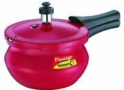 2 L Indian Prestige Deluxe Plus Baby Induction Base Pressure Handi, Flame Red