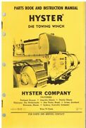 Hyster D4e Towing Winch For Caterpillar D4 955 Excavator Orig Instruction Manual