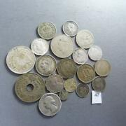 Lot Of 18 Worldwide 86 Gram Silver/copper Coins 1800's-1900's +1/4 Real Rare 47