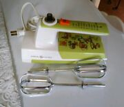 Vintage Rare General Electric Ge Hand Held Mixer Green Retro 1960and039s