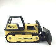 Vintage Tonka Toy Truck Yellow Bulldozer Large Pressed Steel Made In Usa