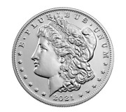 Morgan 2021 Silver Dollar With D Mint Mark With Confirmation Presale M21a