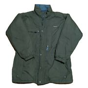 Vintage Insulated Puffer Jacket Size Large Green Blue Mens