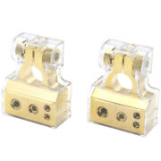 Pair Of Car Battery Terminals Heavy Duty Stud And Wing Type Positive Negative