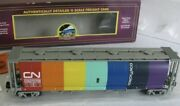 ✅mth Premier Canadian National 100 Ton Covered Hopper Car 20-97687 Cylindrical