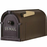 Post Mount Mailbox Durable Plastic Postal Large Mail Box Storage Gold Lettering